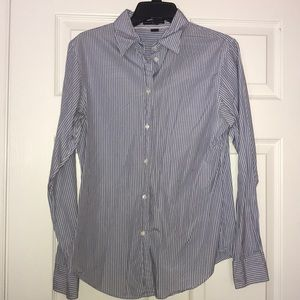 GAP Blue, White and Red Button Down Shirt